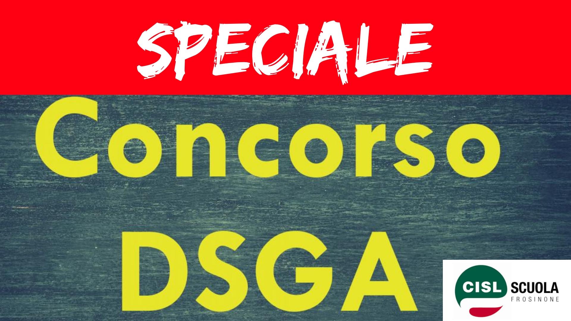 Speciale Concorso DSGA FRosinone